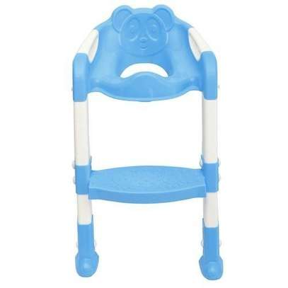 Kids Toilet Potty Trainer Seat Step Up Training Stool Chair Toddler With Ladder image 3
