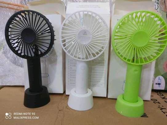 Mini portable Reachargeable desk fan image 1