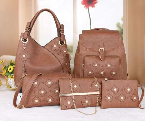 Amazing 5 in 1 Pure leather Handbags image 15