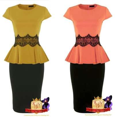 Peplum Top & Skirt Set image 1