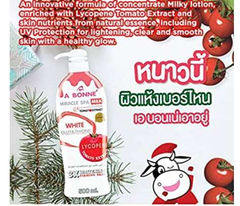 A BONNE Miracle Spa Milk UV Whitening Lotion + Lycopene Nano White with Natural essences 500ml