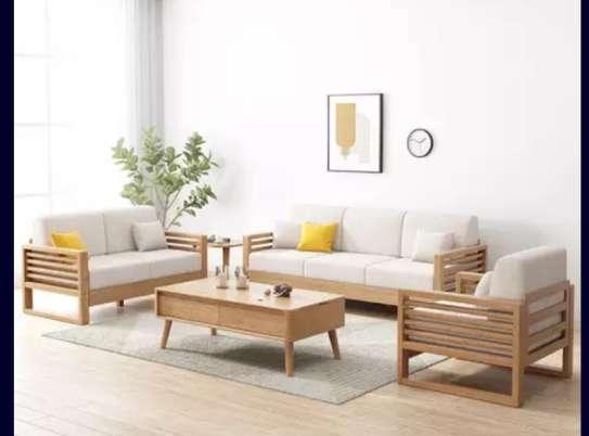 Modern wood sofaset image 1