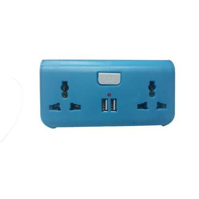 USB Way Socket Extension Cable - Blue image 1
