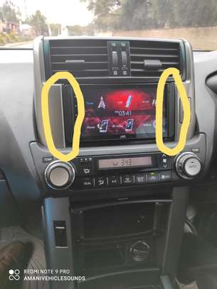 Double Din Car Radio Fascia Side Dash Mount Kit for Toyota Ear Sides Face Plate Frame Panel. image 2