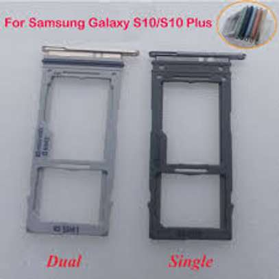 SIM Card Slot Holder Tray Slot Replacement Part For for Samsung S10 S10e S10 Plus image 1
