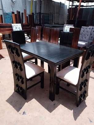 4 seater mahogany-made dining sets image 3