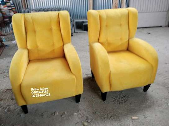 Yellow sofas/single seater sofas/wingback chair/one seater sofas image 1