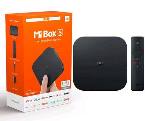 Mi Box S Xiaomi Original – 4K Ultra HD Android TV with Google Voice Assistant & Direct Netflix Remote Streaming Media Player image 1