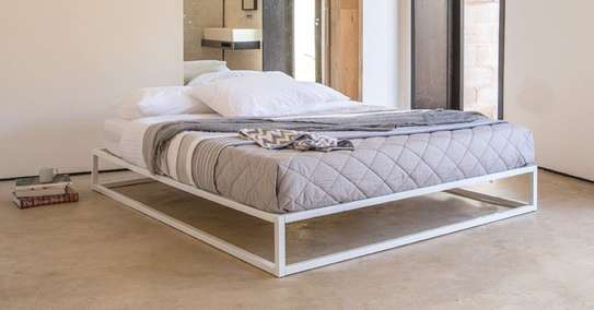 METAL FRAME BED WITH WOODEN FINISH FROM 3*6 TO 6*6 image 3