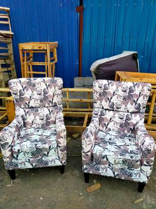 Floral sofas/single seater sofas/modern one seater sofa for sale in Nairobi Kenya/wingback chair image 1