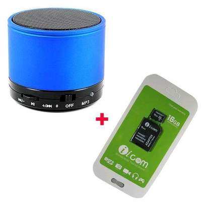 Mini Speaker With Free 16gb Memorycard– Blue image 1