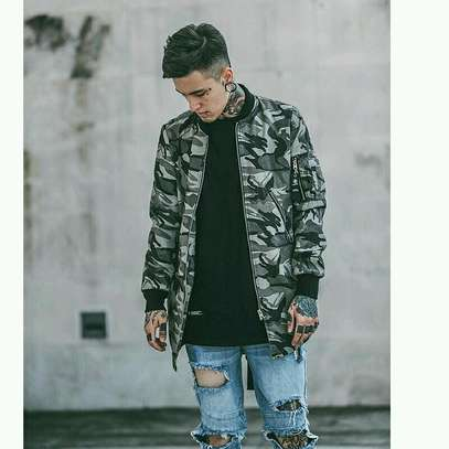 Camouflaged Combat Extended Jackets