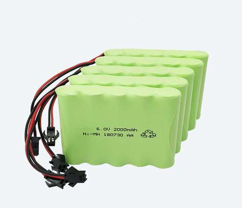 6V rechargeable AA battery image 1
