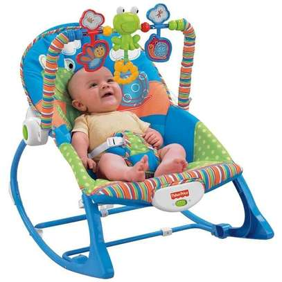 Newborn To Toddler Little Frog 2 In 1 Portable Baby Rocker image 1