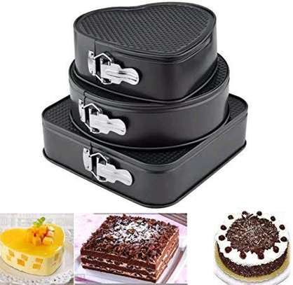 *Quality Non~stick baking tins 3 different shapes  set of 3pcs image 1