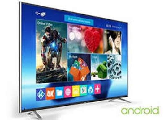 TCL 55 INCH SMART ANDROID 4K FRAMELESS TV image 1