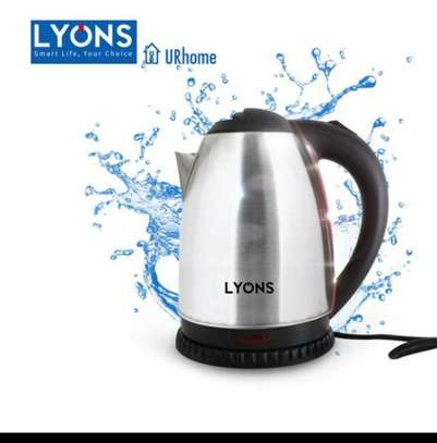 Silver & Black Cordless Stainless Steel Electric Kettle - 1.8L. image 1
