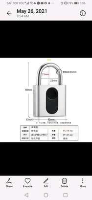 Fingerprint rechargeable padlock  Ksh.3999 image 1