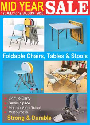 foldable tables chairs and Stools are on offer image 1