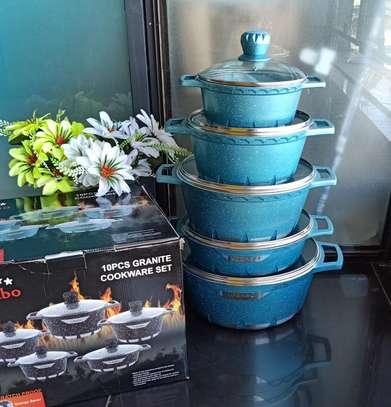 *10pcs granite cookware set* 5 cooking pots with lids * image 1