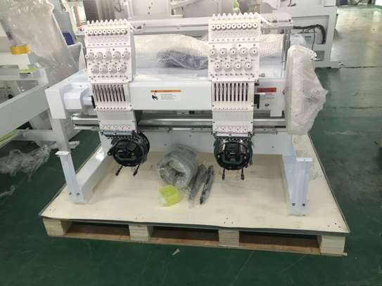 New Embroidery machine two head for logo Printing image 1