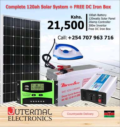 solar systems full kit 120wts image 1