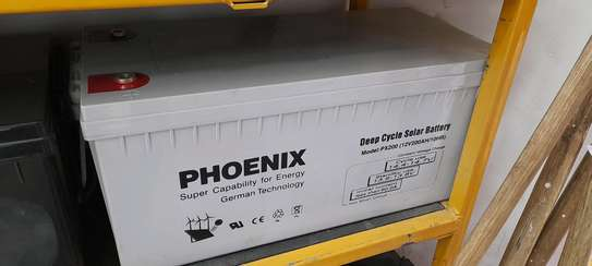 Phoenix Solar Gel Deep Cycle Battery 12v 200ah 10hr image 2
