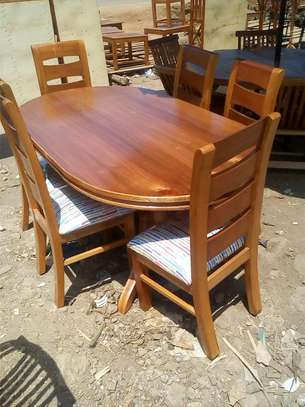 Six seater dining table image 1