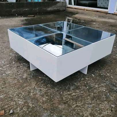Adhessive-mirror Coffee tables image 2