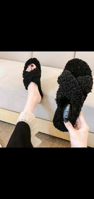 Ladies Open Fluffy sandals image 4