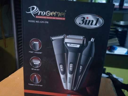 3 in 1 Progemei Rechargeable Shaver and Trimmer Set