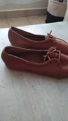 Brown casual ladies oxford flats image 4