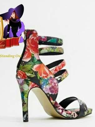 Heeled Floral Print Heels From UK image 2