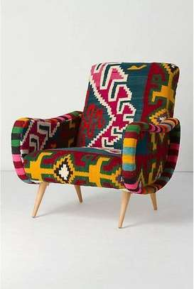 Kitenge Armchairs/Wing back chairs image 4