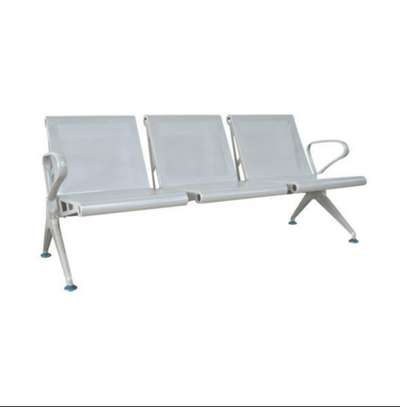 Heavy Duty Non Padded Linked Waiting Area or Front Office Chairs image 1
