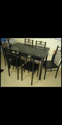 Modern lifestyle 6 chairs dining table image 1