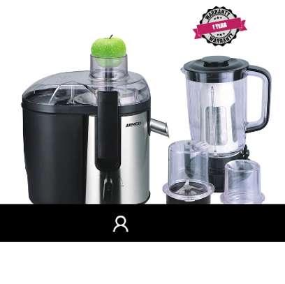 ARMCO AJB-900(SS) Large 5-in-1 Food Processor - Juicer, Blender (1.5L), Grinder Mill, Mincer, Soyamilk Maker. image 1