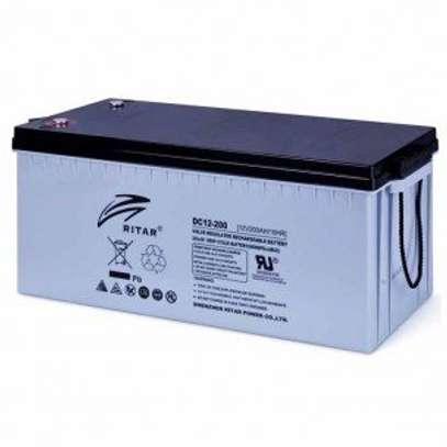 200 ah/12v Ritah gel AGM deep cycle maintenance free solar battery