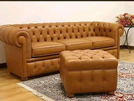 Chesterfield Sofa(5 Seater)Pure leather image 1