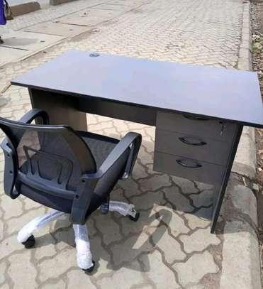 Laptop writing desk plus a swivel chair adjustable image 1