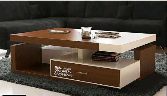 Modern coffee table/coffee table with drawers image 1