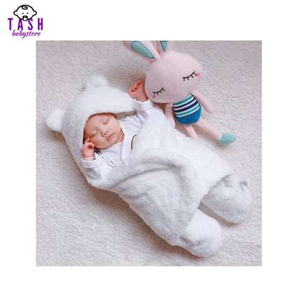 Baby Swaddle Wrap Blanket and Baby Sac- White