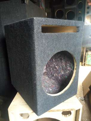 Single 12-Inch ported and partitioned breather Subwoofer Box. image 1