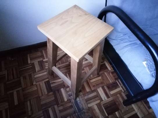 Stool in oak wood