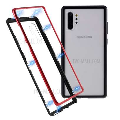 Magnetic Luxury Cases For Samsung Note 10 Note 10 Pro With Tempered Back Glass image 1