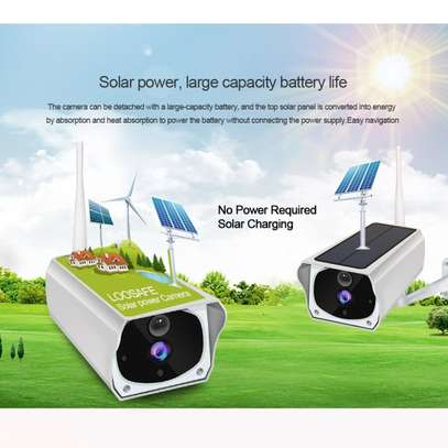 Smart Rechargeable Night Vision WiFi IP Solar Surveillance Outdoor HD 1080P Camera image 4