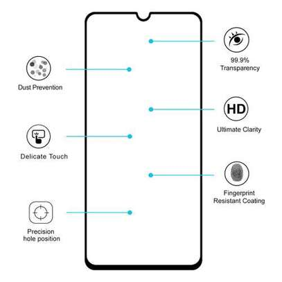 Samsung Galaxy A70 Glue Full Screen Tempered Gl Protective Film transparent image 4