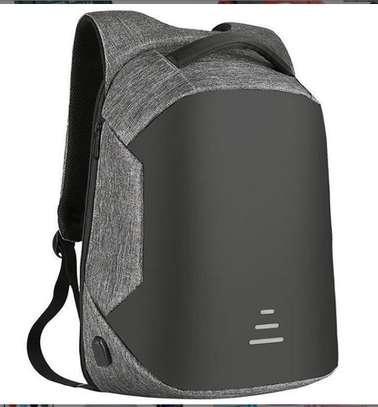 Fashion Grey Anti-theft bag with USB charging port image 1