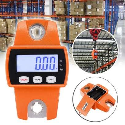 Mini Digital LCD Display Crane Scale 300KG/660LBS Industrial Hanging Weight Hook image 1