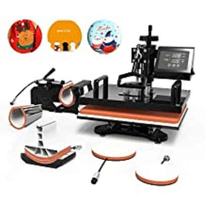 SublimationT Shirt Heat Press Machine For Printing T shirt/Phone Case/Cap/Puzzle/Mouse Pad/Keychain image 1